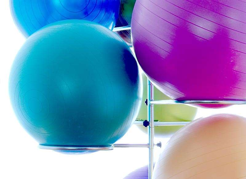 yoga balls for prenatal stretching